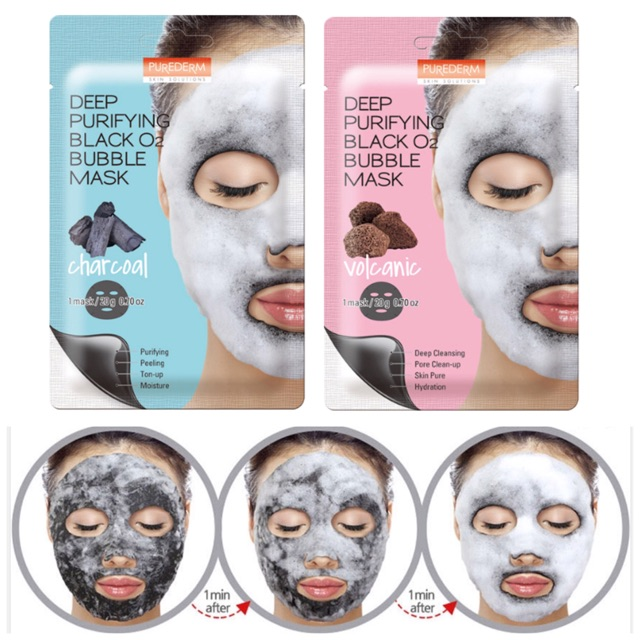 "Картинки по запросу ""3W Deep Purifying Black 02 Bubble Mask НАБОР 5 масок"""