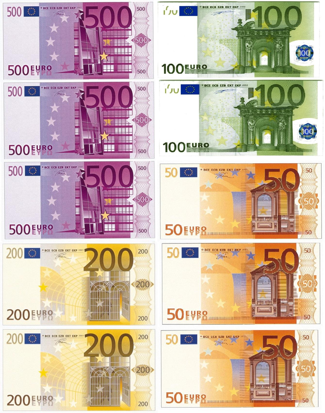 Картинка доллара и евро распечатать